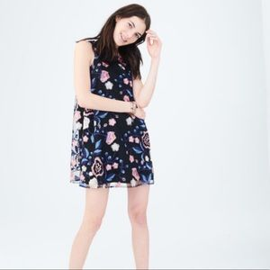 Aeropostale | Floral Tie Back Embroidered  Dress